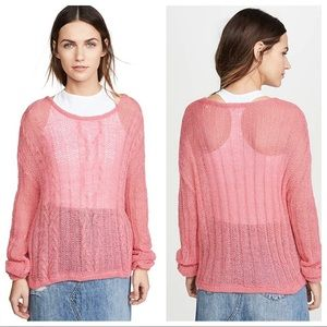 Free People Angel Soft Sweater in Bubble Gum